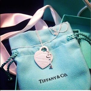Tiffany & Co. heart with key charms necklace